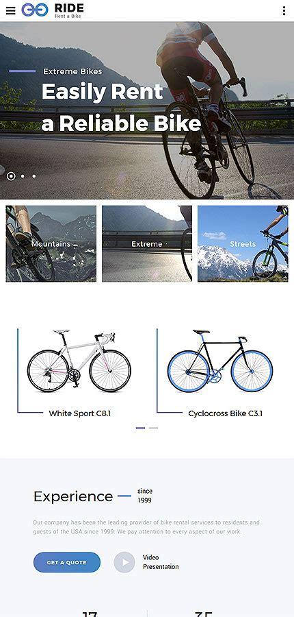 Bike Shop Responsive Website Template Website Templates Bike Shop Website Template