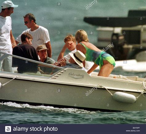Princess Diana and Prince William on holiday St Tropez