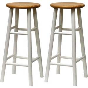 30 Wood Bar Stools Beech Wood Bar Stools 30 Quot Set Of 2 White And
