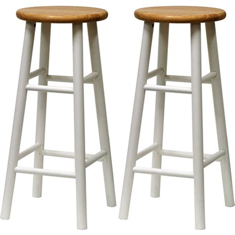 30 Inch Wood Bar Stools Beech Wood Bar Stools 30 Quot Set Of 2 White And
