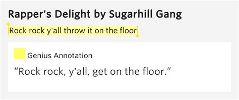 All On The Floor Lyrics by Rock Rock Y All Throw It On The Floor Rapper S Delight