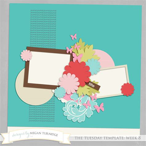 template freebie from designs by megan turnidge scrapbook