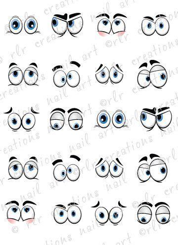 printable silly eyes augen zeichentrick and nagel abziehbilder on pinterest