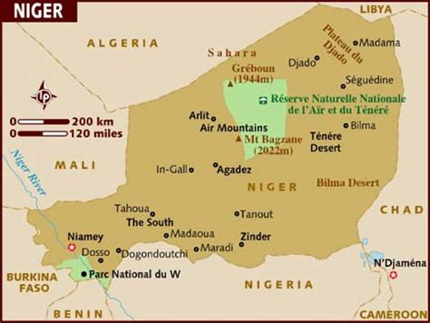 africa map niger map of niger