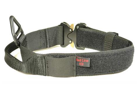 service collar redline k9 maxtac 1 75 quot service id collar with metal cobra buckle dogsport gear