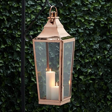 high street copper candle lantern outdoor