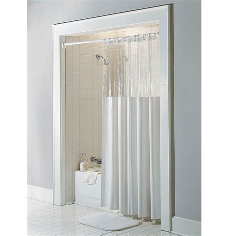 84 shower curtain window vinyl clear top shower curtain 72 x 84 x long ebay