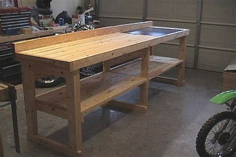 work bench idea simple workbench garage storage ideas pinterest
