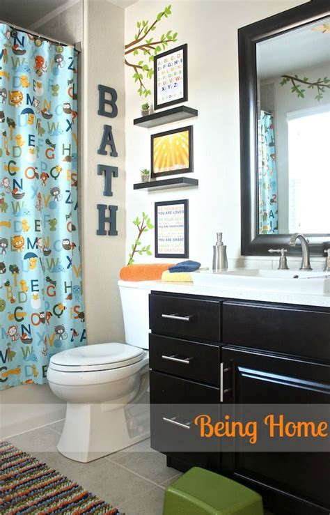 kids bathroom ideas pinterest being home boy bathroom makeover abc and nature theme