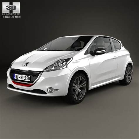 peugeot models and prices peugeot 208 gti 2013 3d model from humster3d com price