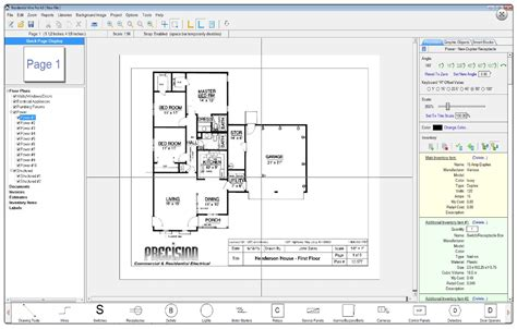 electrical floor plan drawing residential wire pro software draw detailed electrical
