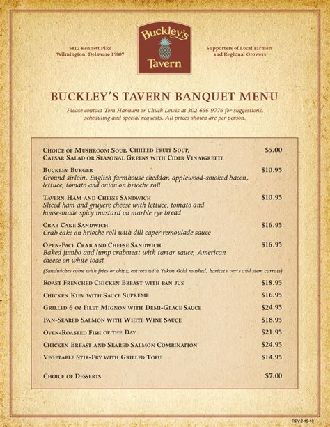 Consuming Or Undercooked Food Notice by Banquet Buckley S Tavern