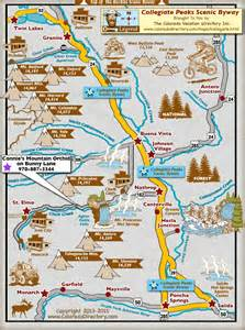 peaks colorado map collegiate peaks scenic byway map colorado vacation