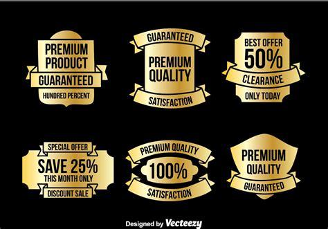 Etiketten Gold by Gold Etiketten Vektor Sets Kostenlose Vektor Kunst