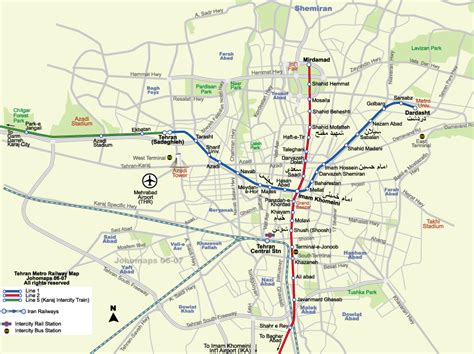teran map metro map of tehran iran johomaps