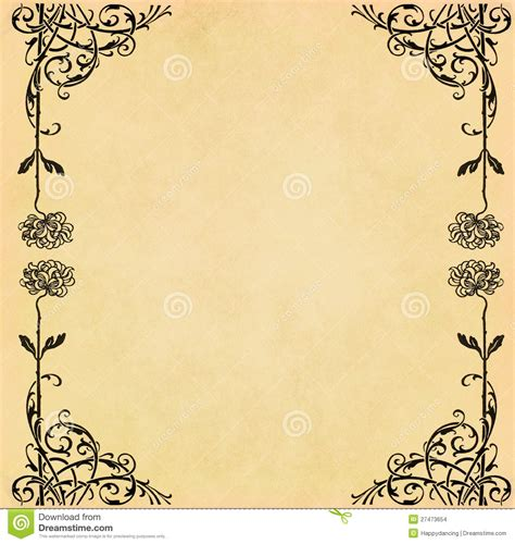grunge page with floral border stock illustration illustration of fashioned aged 2582659 illustration of vintage flower on paper stock images image 27473654