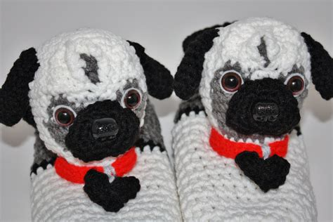 pug slippers s pug slippers original design by anniekscreations
