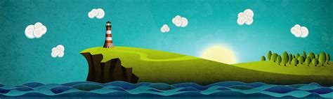 tutorial illustrator landscape how to design a picturesque coastal landscape using