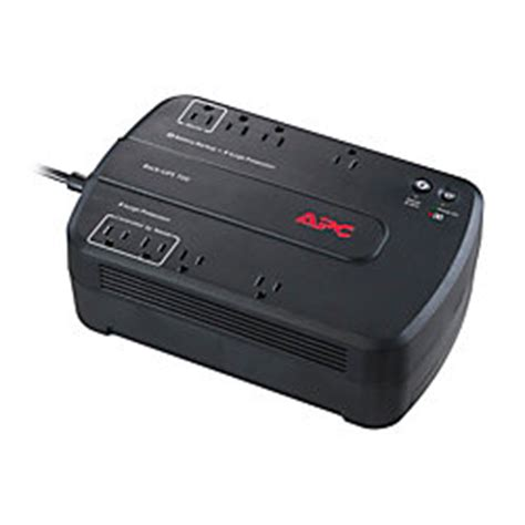 Ups Ica Cp 700 350w apc back ups es 700va battery backup broadband 700va330 watt 8 outlets by office depot officemax