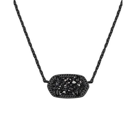 Elisa Black kendra elisa pendant necklace in black drusy
