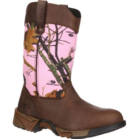 womens pink boots rocky s aztec pink camouflage boot style rkys133