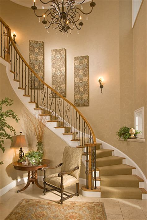 stairway decor bethesda foyer traditional staircase dc metro by