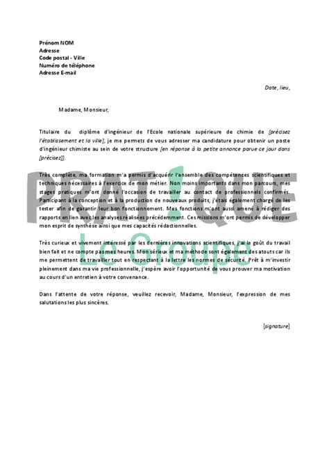Lettre De Motivation Anglais Ingénieur Informatique application letter sle exemple de lettre de motivation