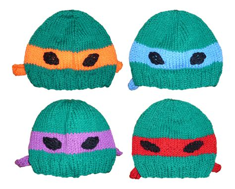knitting pattern for ninja turtles teenage mutant ninja turtle hat knitting pattern pdf
