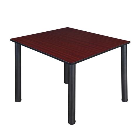Regency Desk Fan 9 In Zds09 regency kee 48 in mahogany and black square breakroom table tb4848mhbpbk the home depot