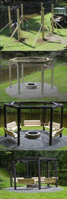 fire pit swing seating 1000 ideas about backyard fire pits on pinterest fire