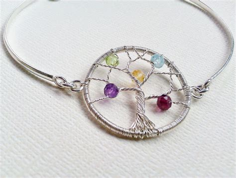 Tree Friendly Pendant Necklace by Personalized Tree Of Bracelet Birthstone Family Tree
