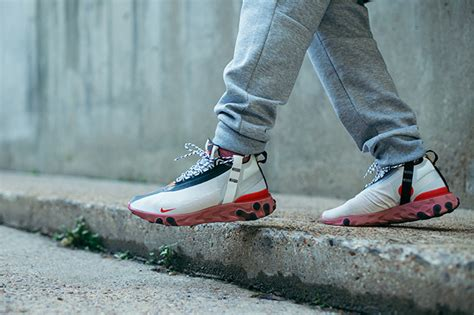 nike react runner mid wr ispa  foot shots  drop date