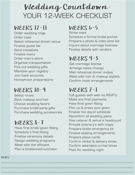 Wedding Checklist Last 2 Weeks by The World S Catalog Of Ideas