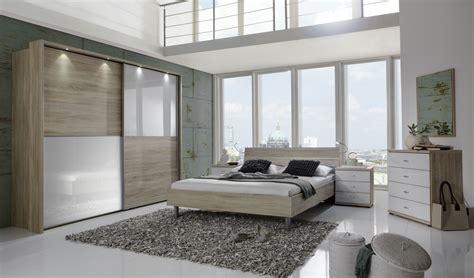 berlin bedroom furniture wiemann berlin bedroom set in oak with alpine white glass