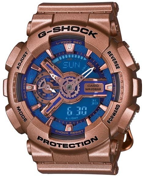 g shock s analog digital gold tone resin