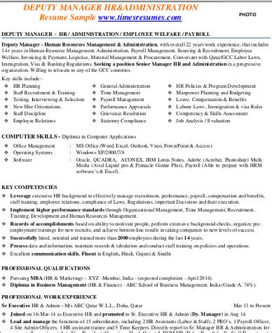 resume format for hr admin manager sle hr manager resume 9 exles in word pdf