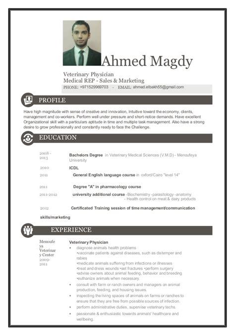 Curriculum Vitae Sle Veterinary Ahmed Elbakh Vet Rep Cv