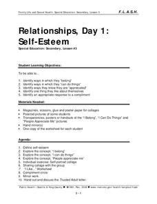 Self Respect - Character Lesson Plan. Free, downloadable
