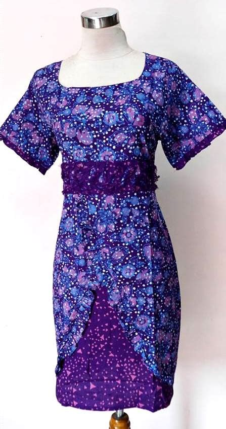 Baju Cantik model baju dress batik modern gaun batik holidays oo