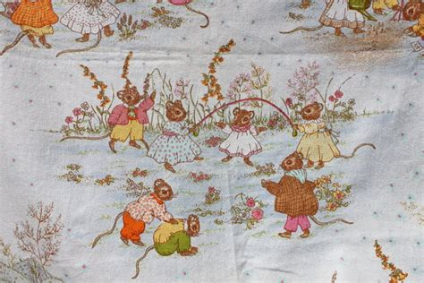 nursery curtain fabric uk fabric vintage nursery curtains beatrix potter motif cute mice