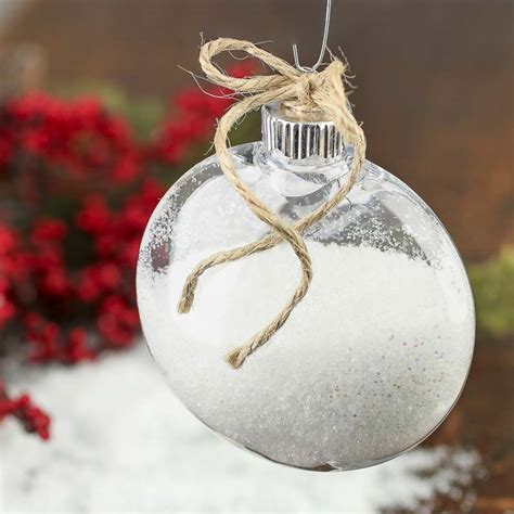 clear plastic disk ornament acrylic fillable ornaments