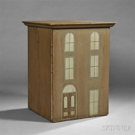 painted doll houses painted dollhouse sale number 2786b lot number 111 skinner auctioneers