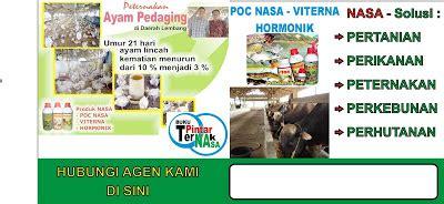Poc Nasa 3 Lt Toko Nasa Jakarta pupuk organik nasa nusantara viterna hormonik dan poc nasa bikin ternak lebih sehat