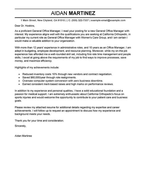 covering letter for office administrator general cover letter for office administrator