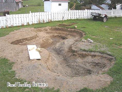 digging in backyard build garden pond pond landscaping design ideas