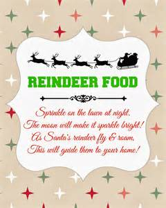 search results for reindeer food free printable