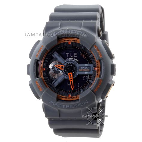 Jam Tangan Quiksilver Hitam Abu harga sarap jam tangan g shock ga110ts 1a4 abu abu orange