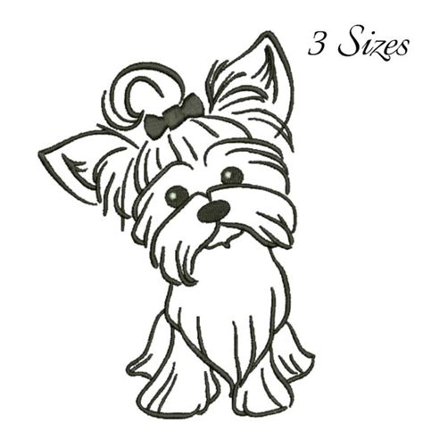 yorkie embroidery designs terrier embroidery design machine embroidery design digital instant