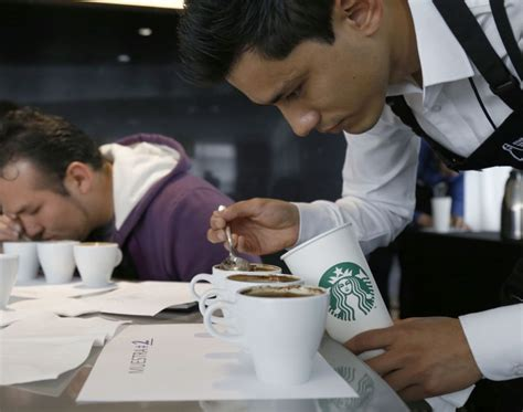 celebrating starbucks barista chions in bogota