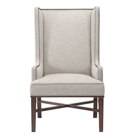 Leather Wingback Dining Chair Furniture Astounding Design Wingback Dining Chair Features White Leather Splendid Beige
